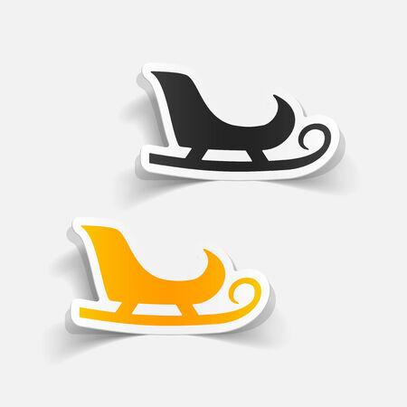 realistic design element: sledge Vector