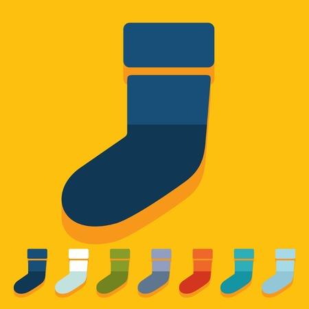christmas sock: Design piatto: Calzino di natale