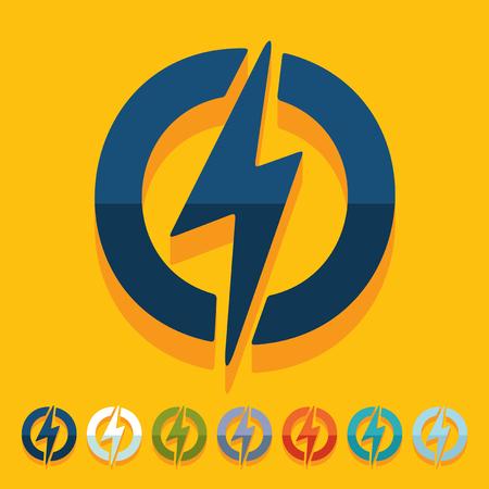 blitz symbol: Flache Bauweise: Blitz