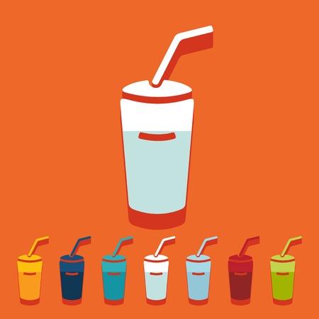 Flat design: soda Vector