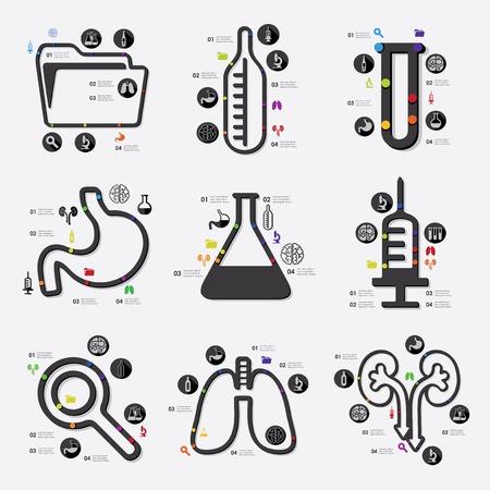 medical diagram: medicine infographic