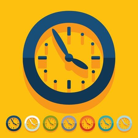 Flat design: clock Vector