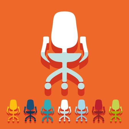 sedia ufficio: Design piatto: sedia da ufficio
