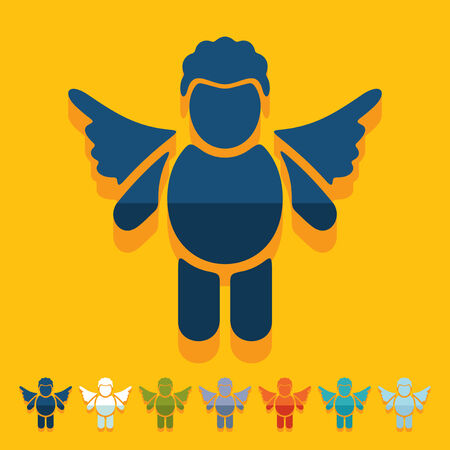 Flat design: angel Vector