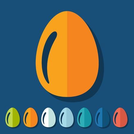 abstinence: Flat design: easter egg
