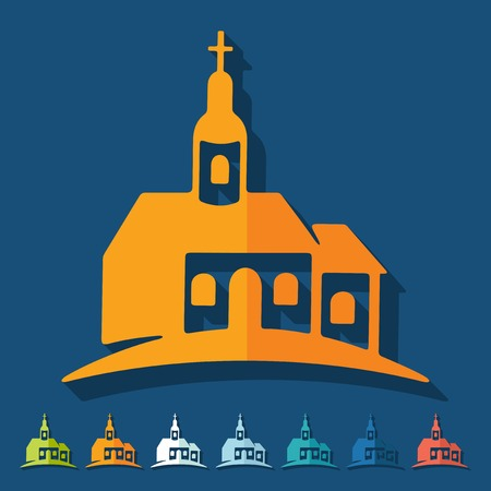 Flat design: church Vector