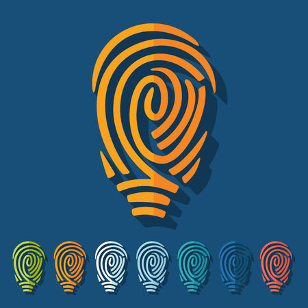 fingerprinting: Flat design: fingerprint Illustration