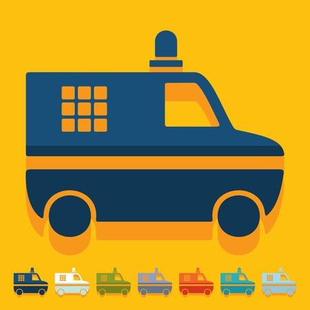 politieauto: Flat design: police car