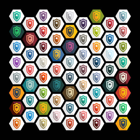 security token: Flat design: police badge