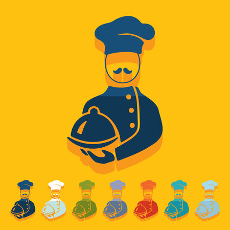 Flat design: cook Vector