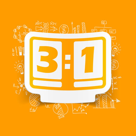 score board: Drawing business formulas: score board Illustration