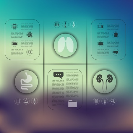 unfocused: medical infographic with unfocused background