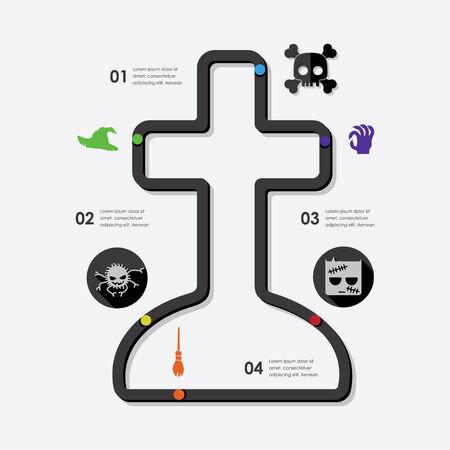 halloween infographic Vector