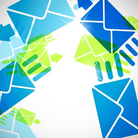 registered mail: abstract background: envelope