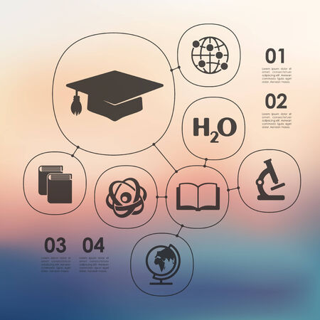 unfocused: education infographic with unfocused background