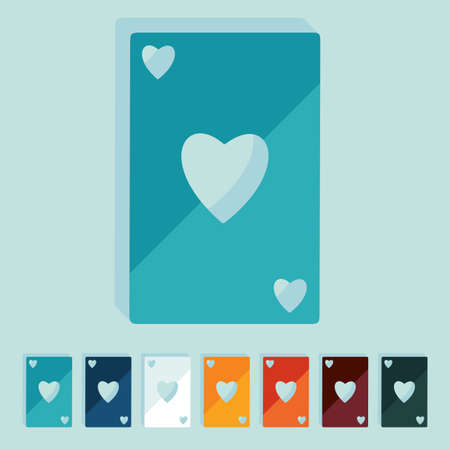 solitaire: Flat design: playing card
