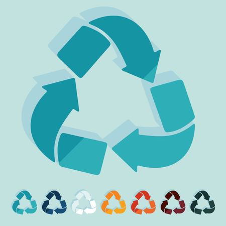 recycle sign: Flat design: recycle sign Illustration