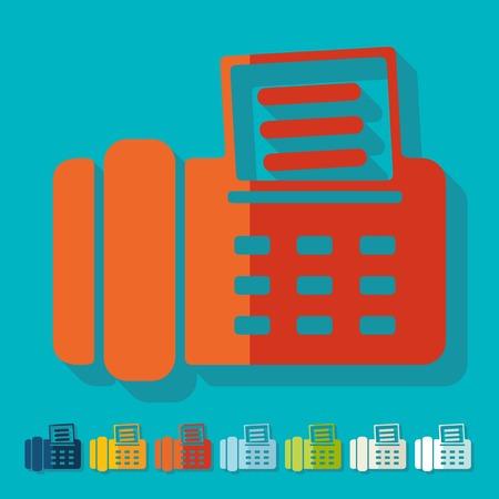 telephonic: Flat design: fax