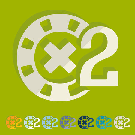 fichas de casino: Dise�o plano: fichas de casino Vectores