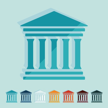 federal hall: Flat design: courthouse