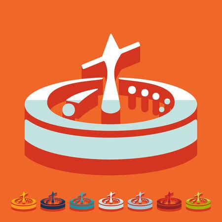 rotates: Flat design: roulette Illustration