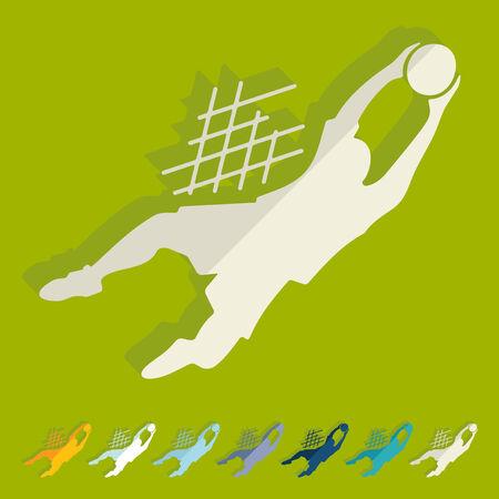 goalkeeper: Flat design: goalkeeper