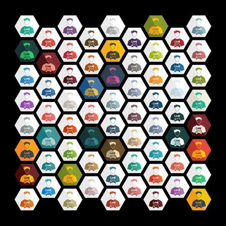 gamer: Flat design: gamer Illustration