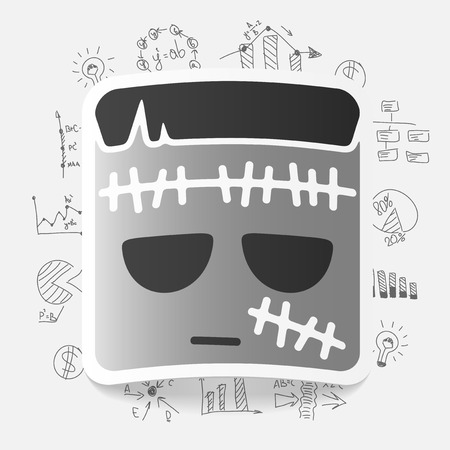 Drawing business formulas: zombie Vector