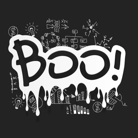 boo: Drawing business formulas: boo Illustration