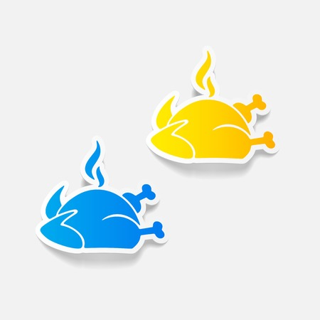 grease: realistic design element: chicken