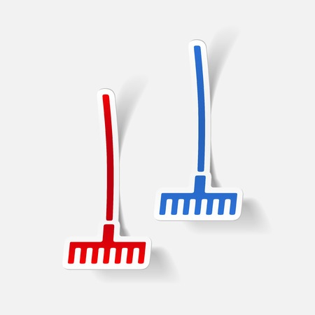 realistic design element: rake Vector