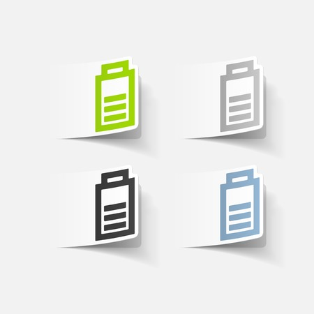ecological adaptation: realistic design element: charge the battery Illustration