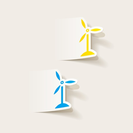 realistic design element: wind turbines