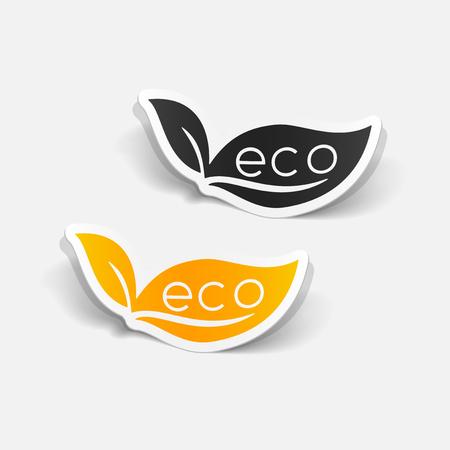 ecologist: realistic design element: eco sign leaf