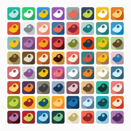 scrambled: Flat design: scrambled Illustration