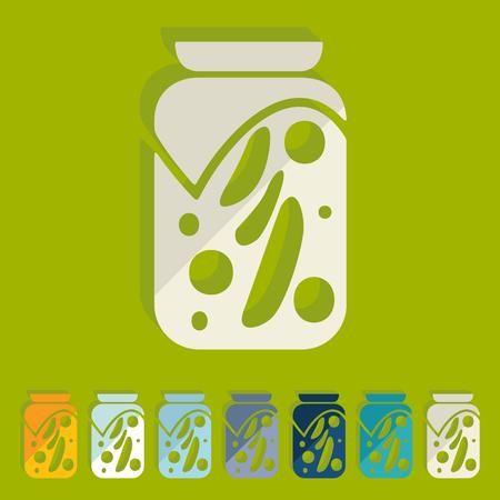 pickled: Flat design: pickled vegetables
