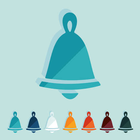 christmas bell: Flat design: christmas bell