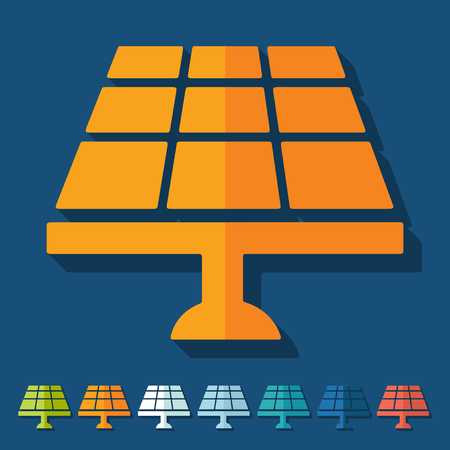 converter: Flat design: solar battery Illustration