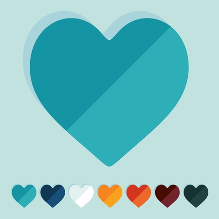 chastity: Flat design: heart Illustration