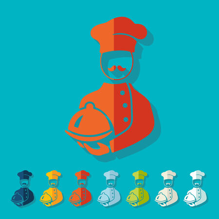 tunic: Flat design: cook Illustration