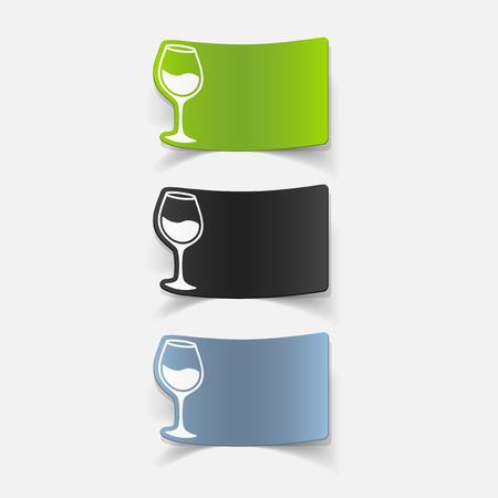 realistic design element: wineglass