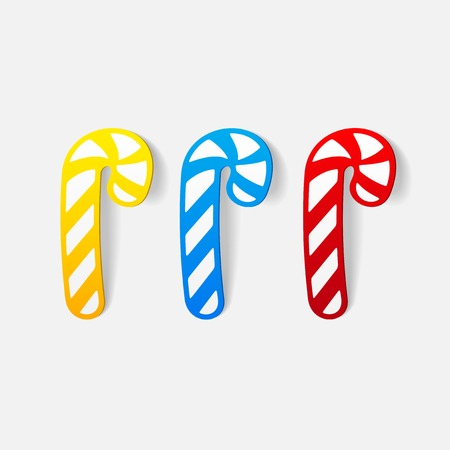 realistic design element: candy cane Vector