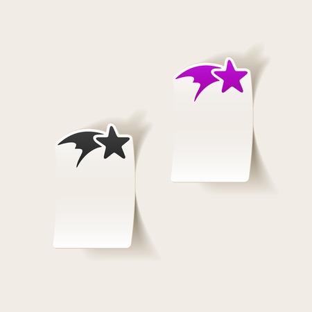 christmas star: realistico elemento di design: stella di Natale