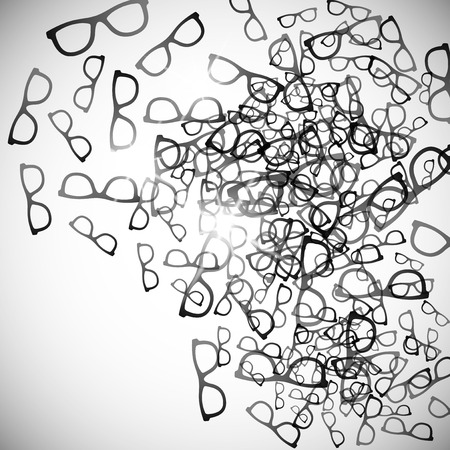 amber: abstract background: glasses Illustration