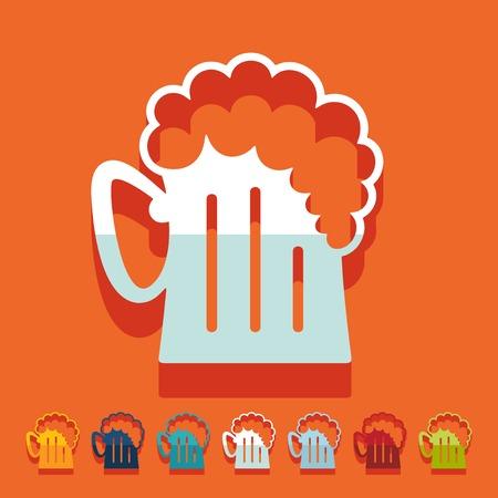 Flat design: beer