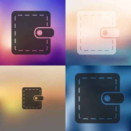 currency glitter: purse icon on blurred background Illustration