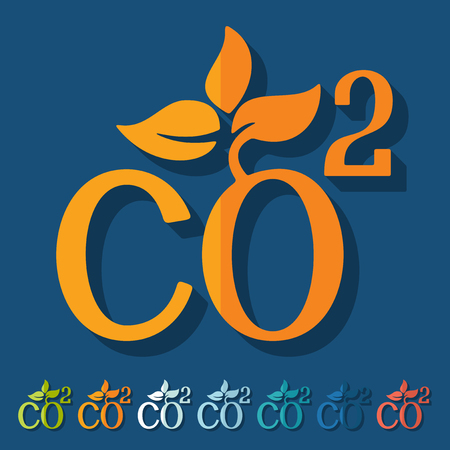 dioxide: Flat design: co2 sign dioxide Illustration