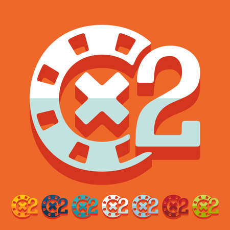 Flat design: casino chips Illustration