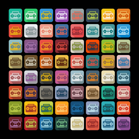 recorder: Flat design: cassette recorder