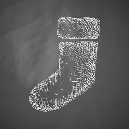christmas sock: Natale icona calzino Vettoriali